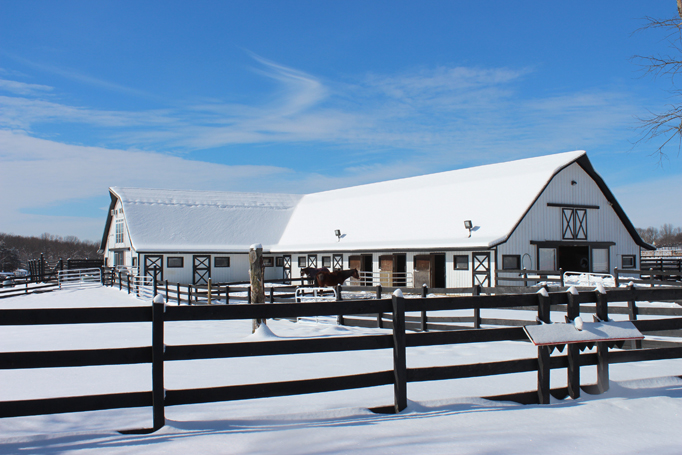 Winter Main Barn
