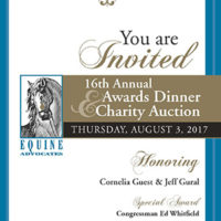 Equine Advocates 16th Annual Awards Dinner & Charity Event