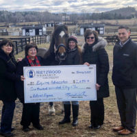 Equine Advocates Receives $1,650 from MetzWood Insurance Charity Referral Program