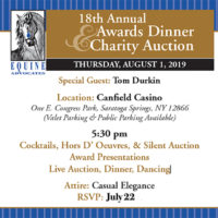 Equine Advocates' Gala to be held Aug 1 in Saratoga Springs!