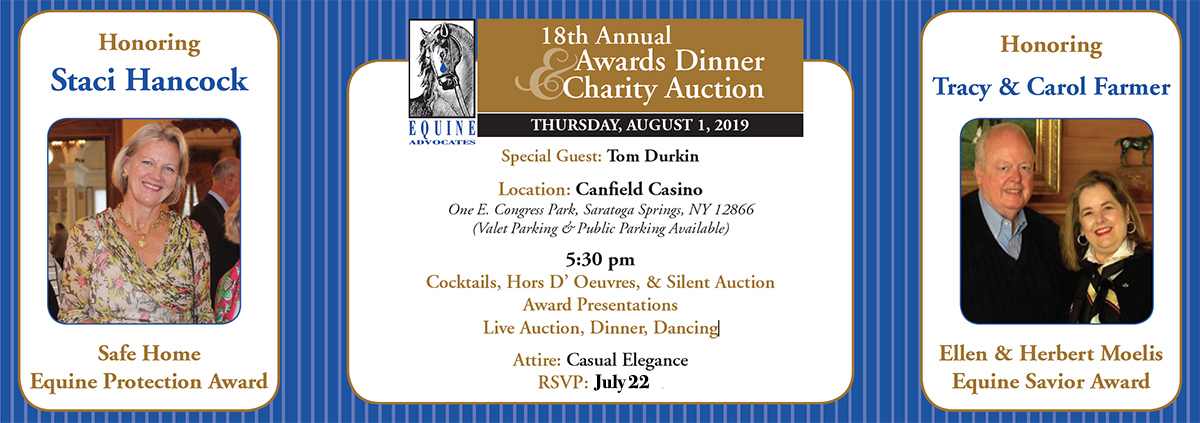 You are currently viewing Equine Advocates' Gala to be held Aug 1 in Saratoga Springs!