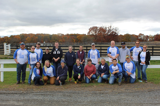 Group of Regeneron volunteers