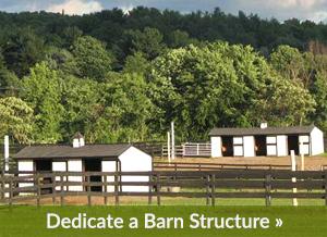 Dedicate a Barn Structure
